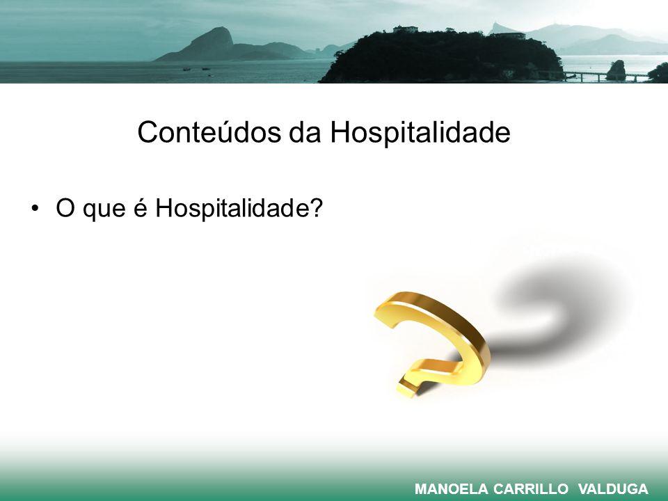 Conteúdos da Hospitalidade