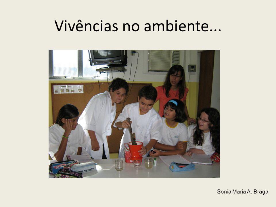 Vivências no ambiente... Sonia Maria A. Braga