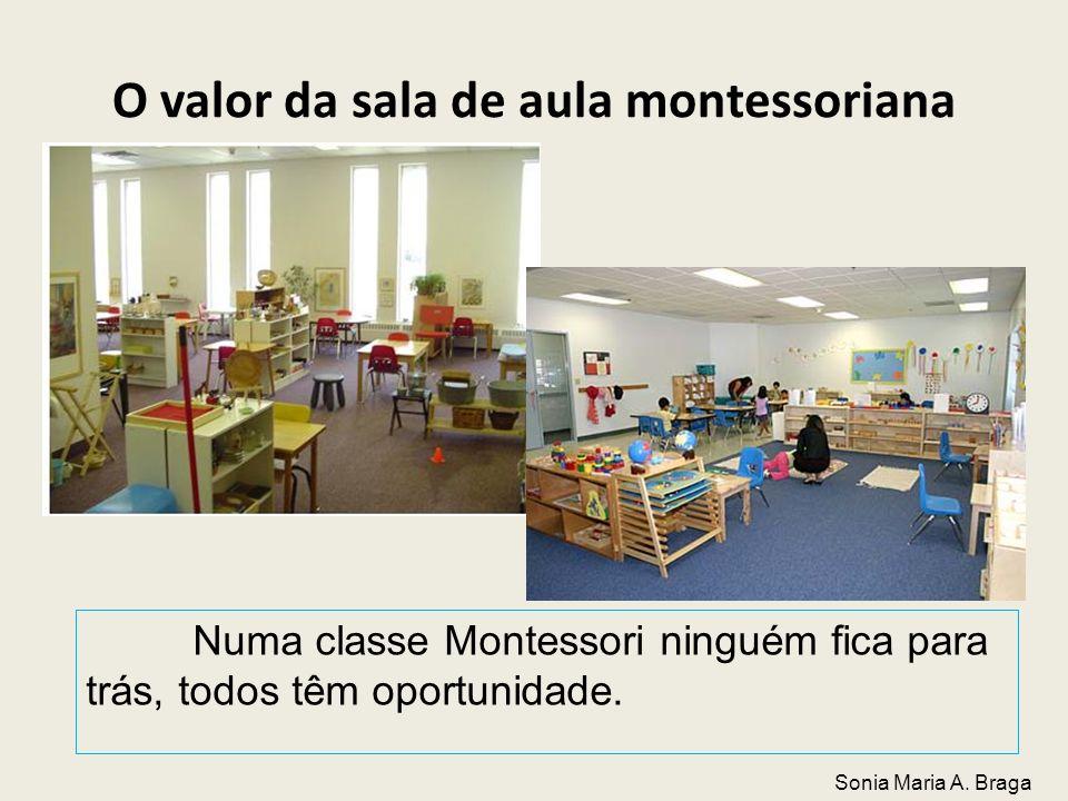 O valor da sala de aula montessoriana