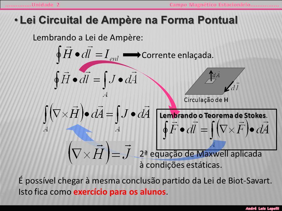 Lei Circuital de Ampère na Forma Pontual