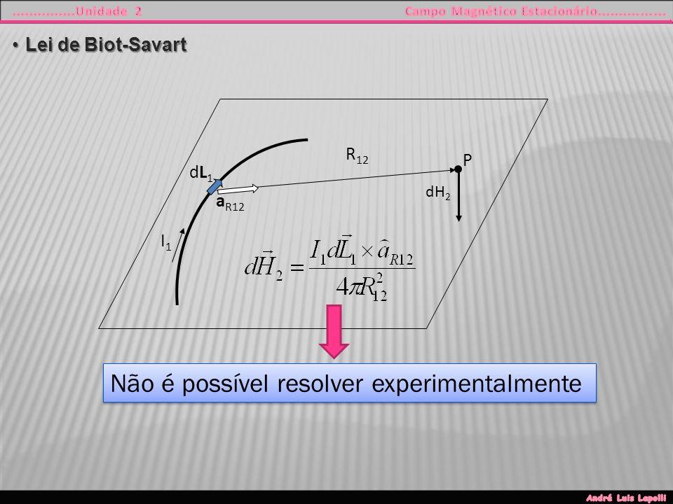 Não é possível resolver experimentalmente