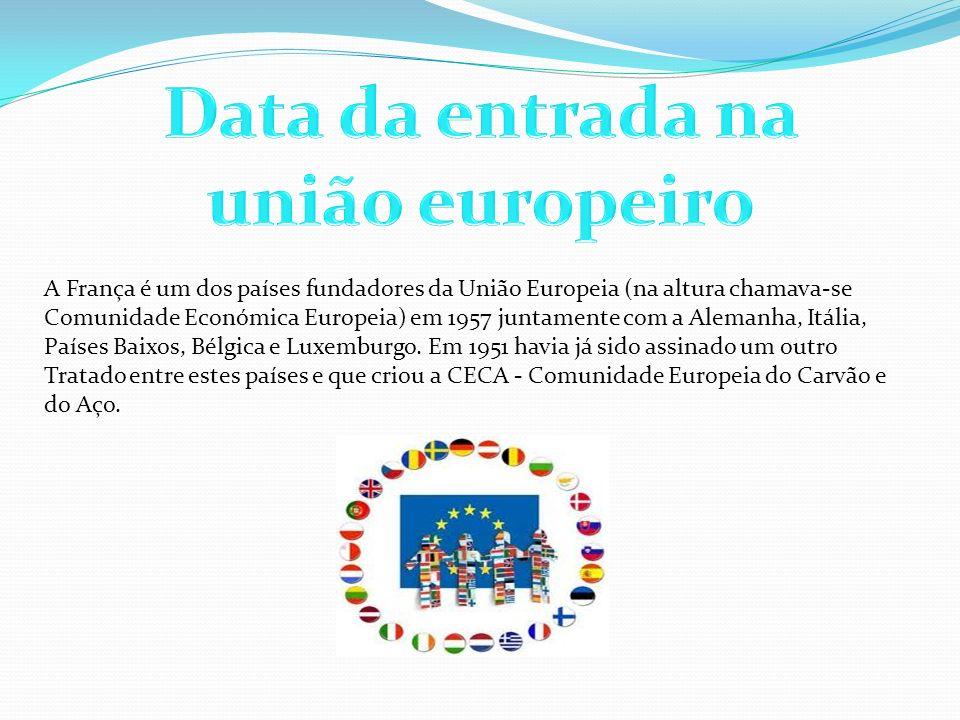 Data da entrada na união europeiro