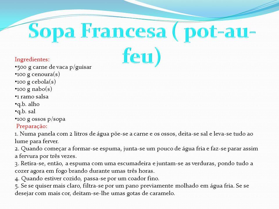 Sopa Francesa ( pot-au-feu)