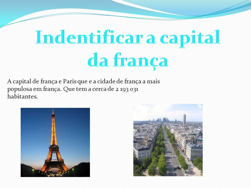 Indentificar a capital da frança