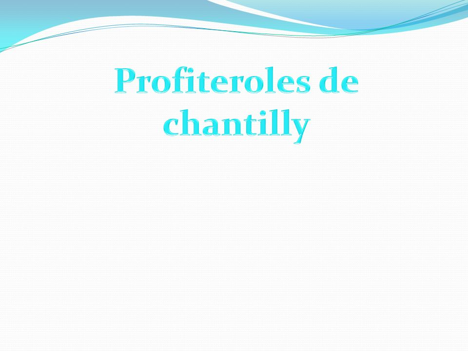 Profiteroles de chantilly