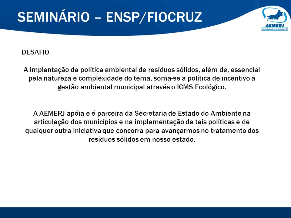 SEMINÁRIO – ENSP/FIOCRUZ