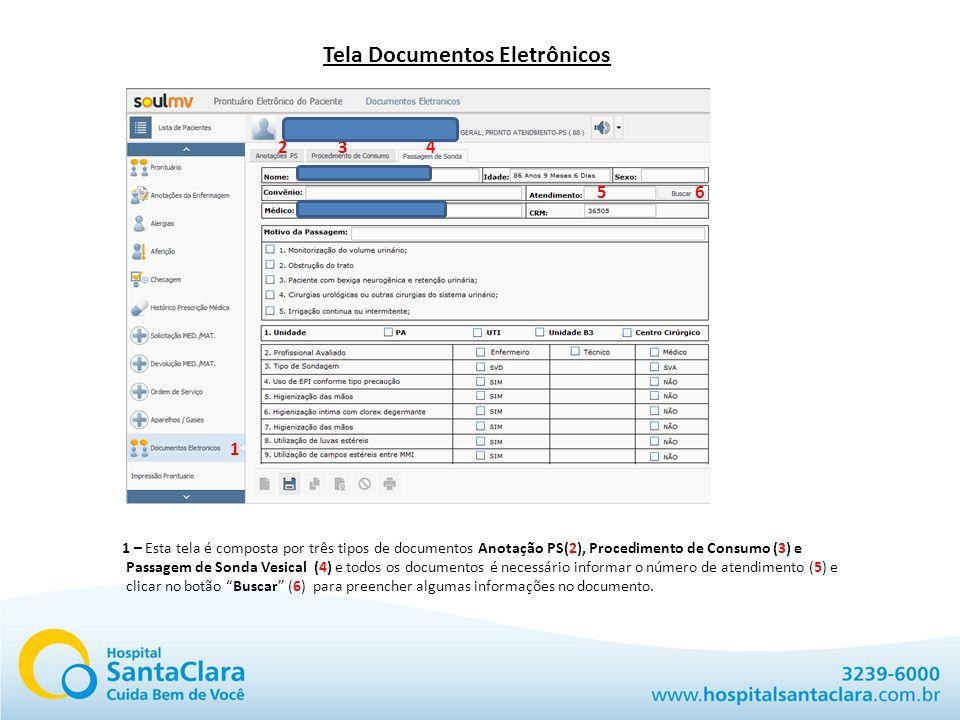Tela Documentos Eletrônicos
