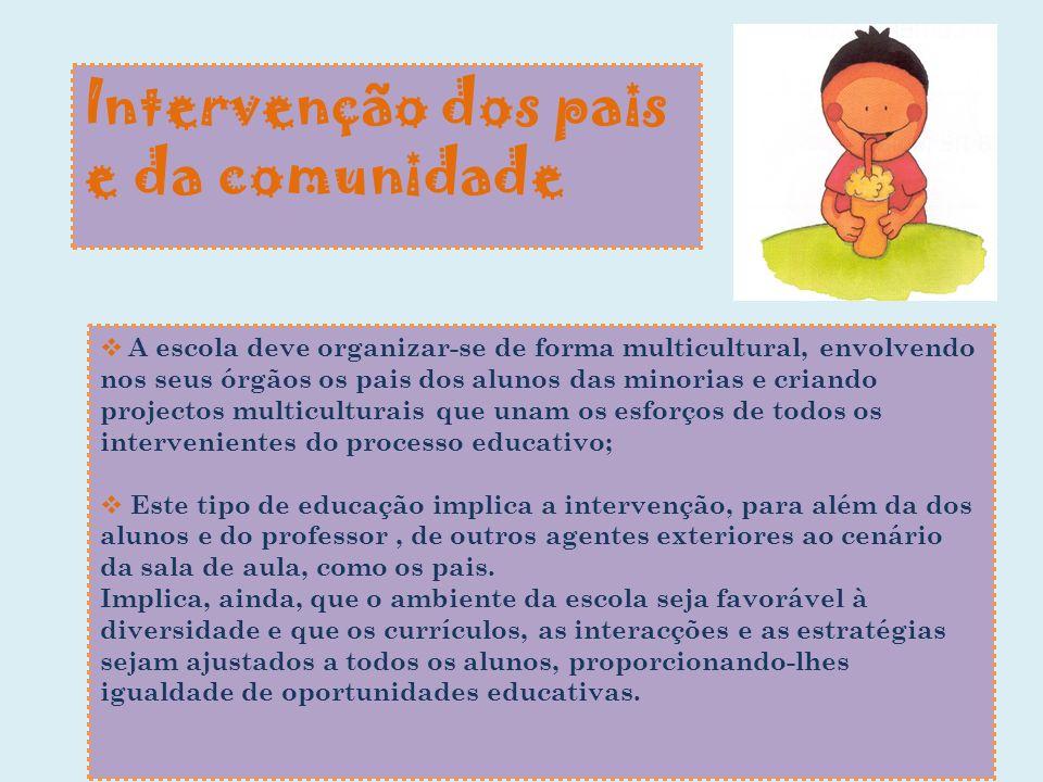 Intervenção dos pais e da comunidade