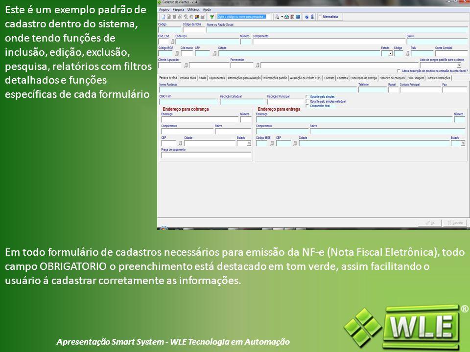 Apresentação Smart System - WLE Tecnologia em Automação
