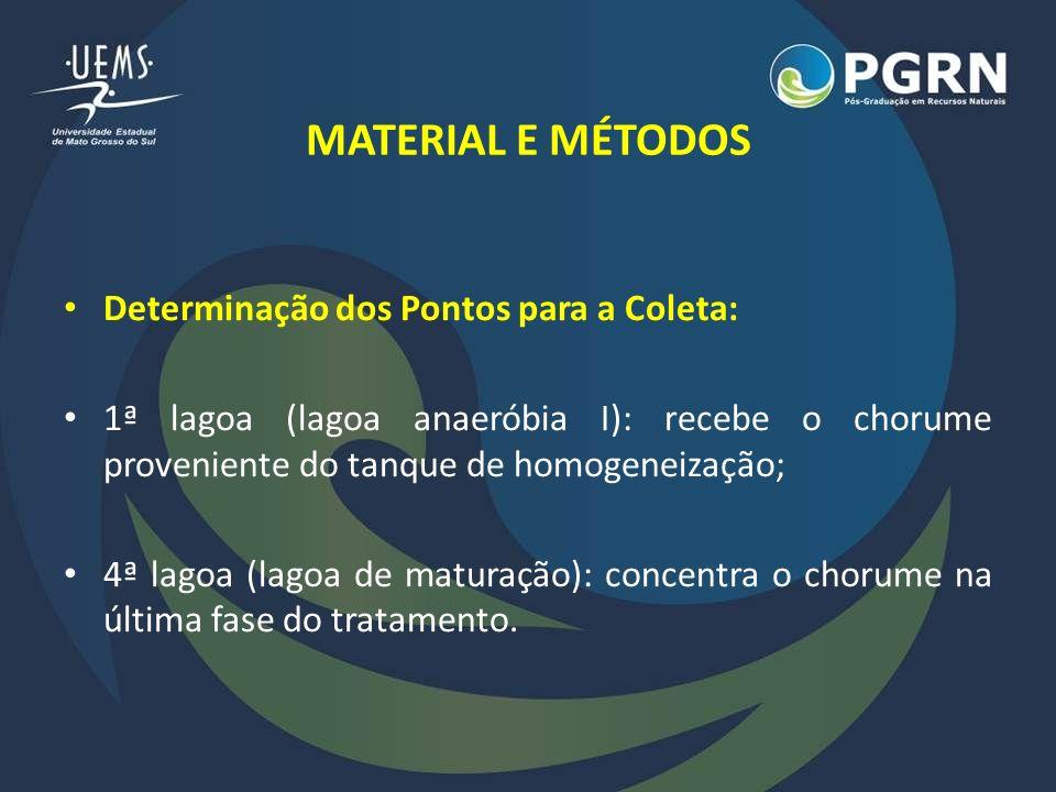 MATERIAL E MÉTODOS Determinação dos Pontos para a Coleta: