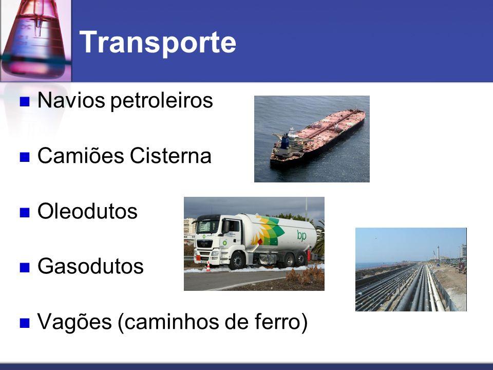 Transporte Navios petroleiros Camiões Cisterna Oleodutos Gasodutos