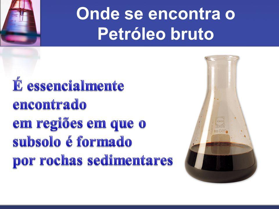 Onde se encontra o Petróleo bruto