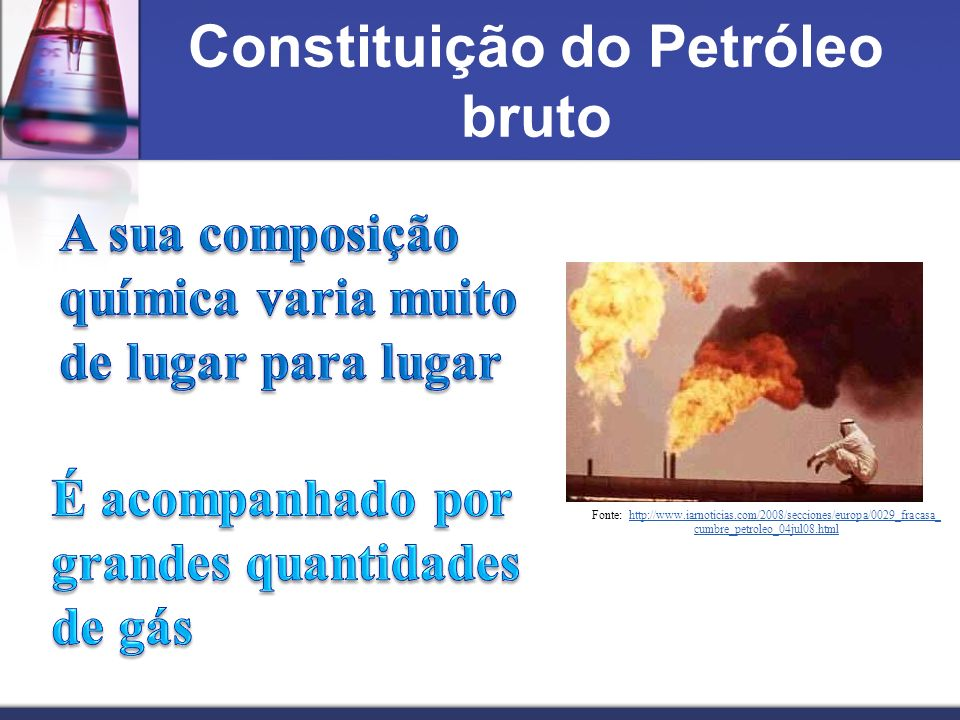 Constituição do Petróleo bruto