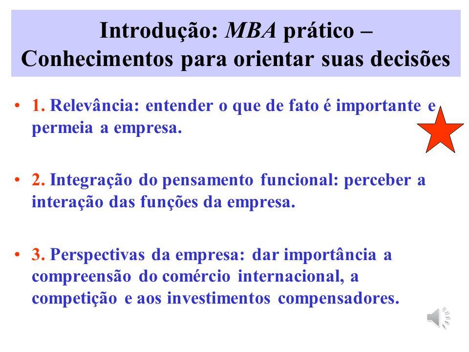 Introdução: MBA prático – Conhecimentos para orientar suas decisões