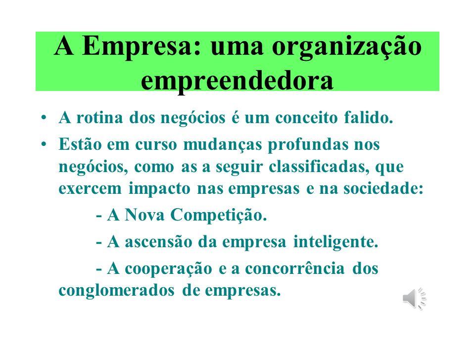 A Empresa: uma organização empreendedora