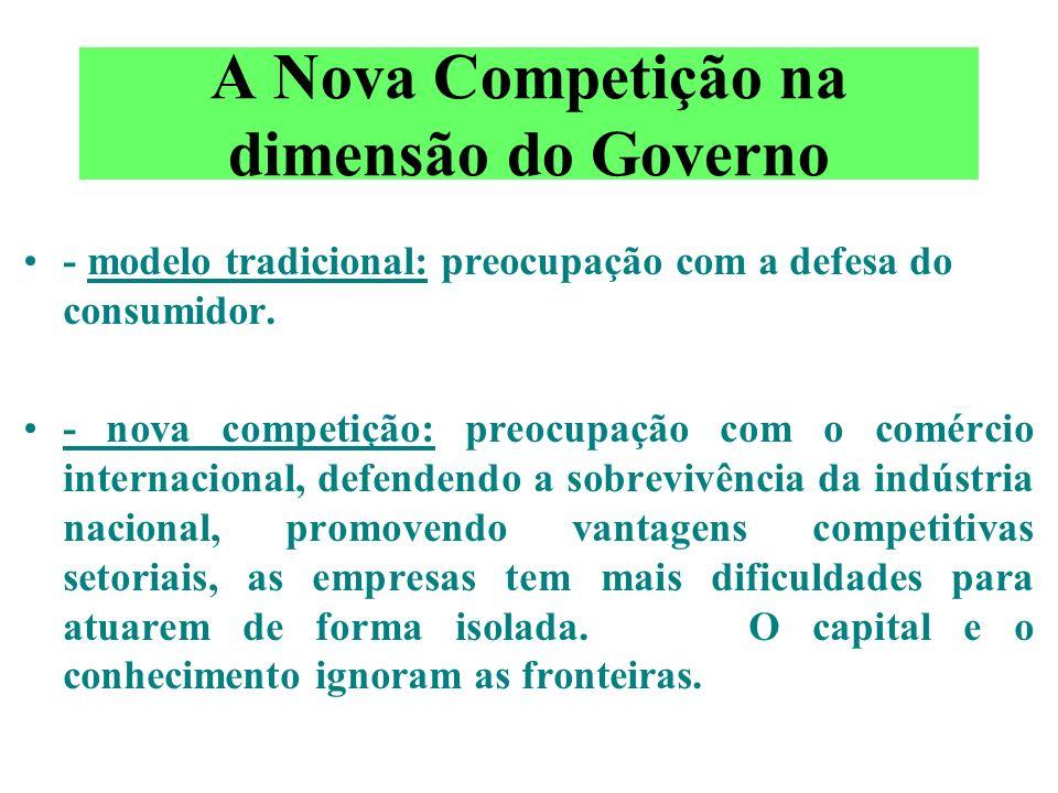 A Nova Competição na dimensão do Governo