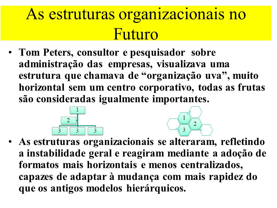 As estruturas organizacionais no Futuro