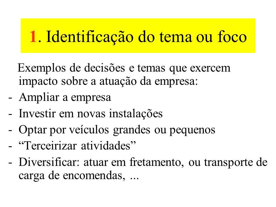 1. Identificação do tema ou foco