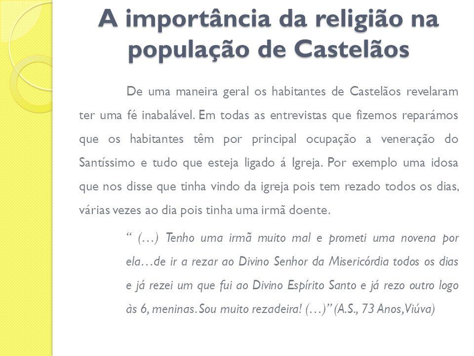 A importância da religião na população de Castelãos