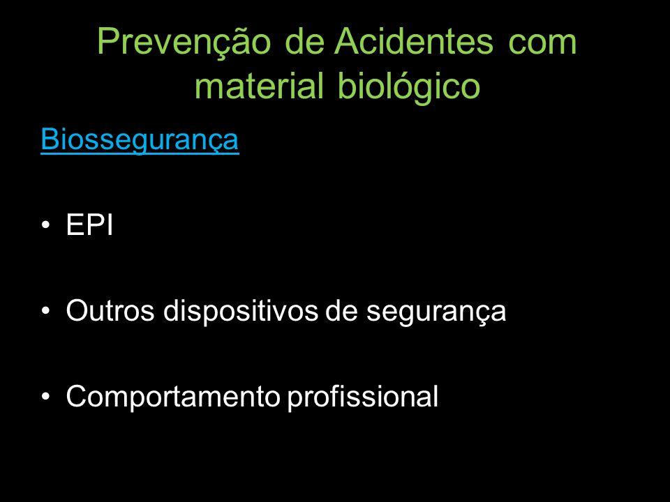Prevenção de Acidentes com material biológico