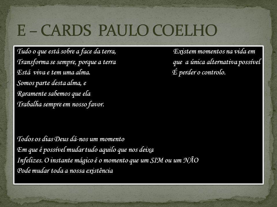 E – CARDS PAULO COELHO