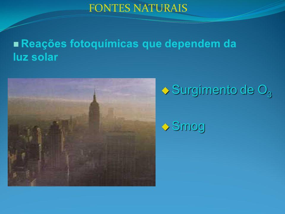 Surgimento de O3 Smog FONTES NATURAIS