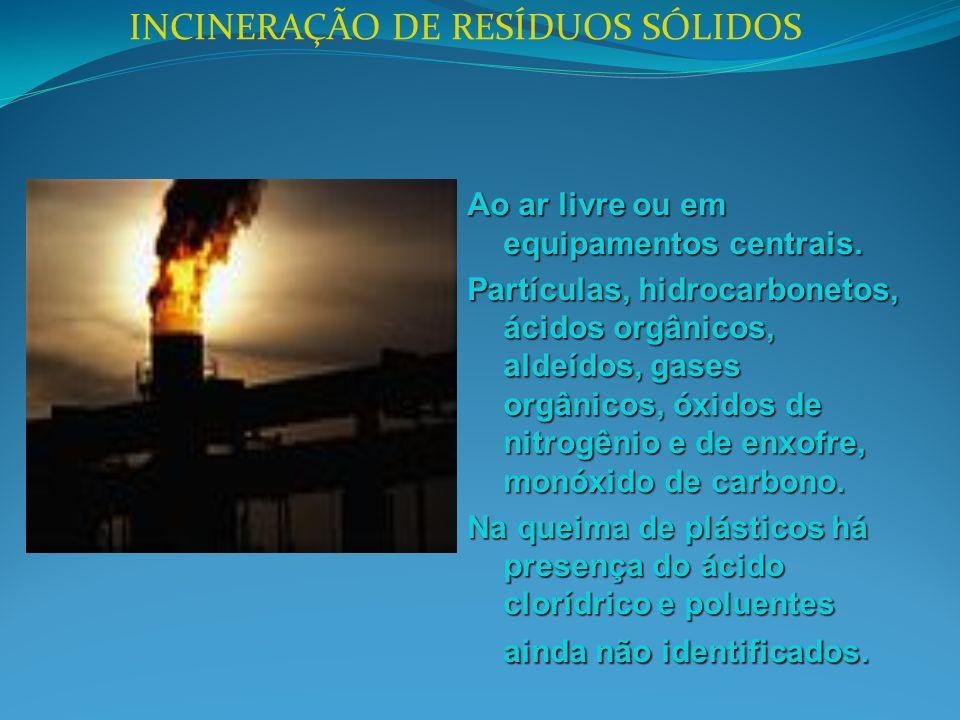 INCINERAÇÃO DE RESÍDUOS SÓLIDOS