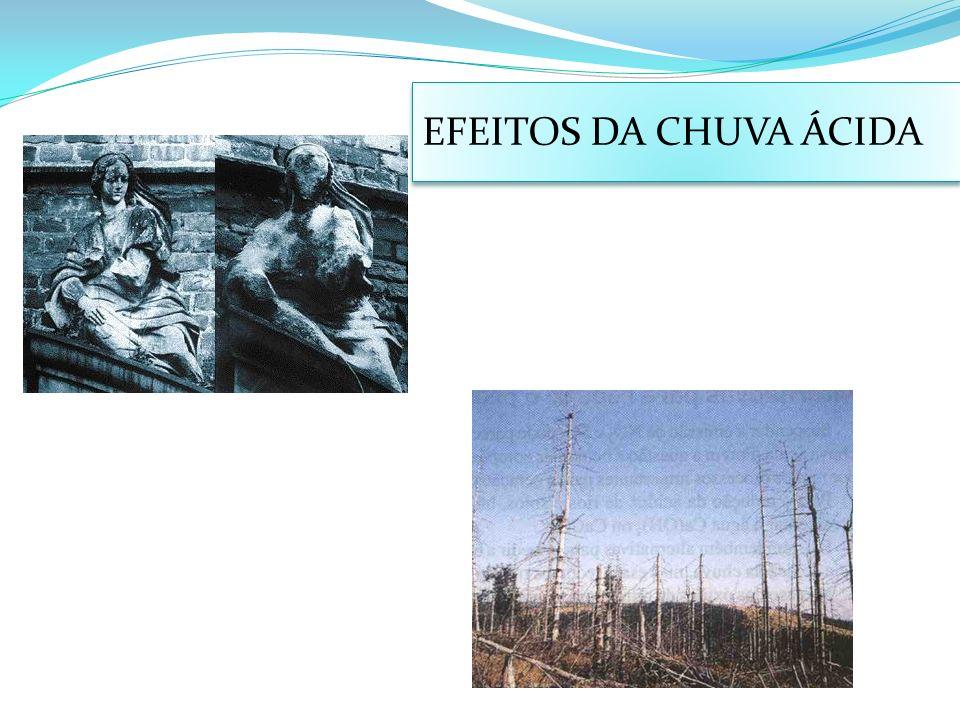 EFEITOS DA CHUVA ÁCIDA