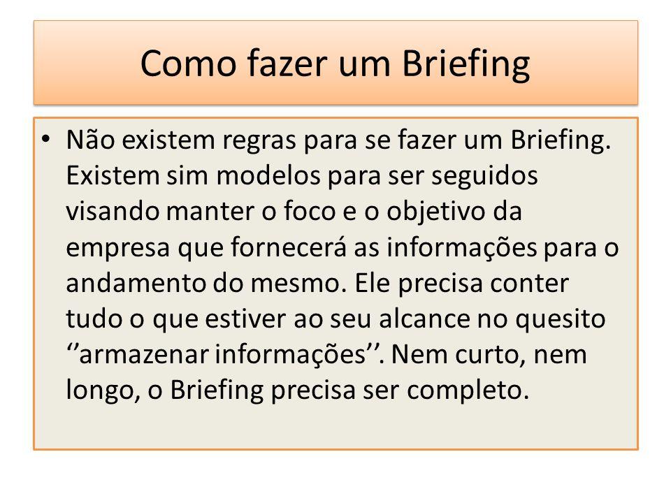 Como fazer um Briefing