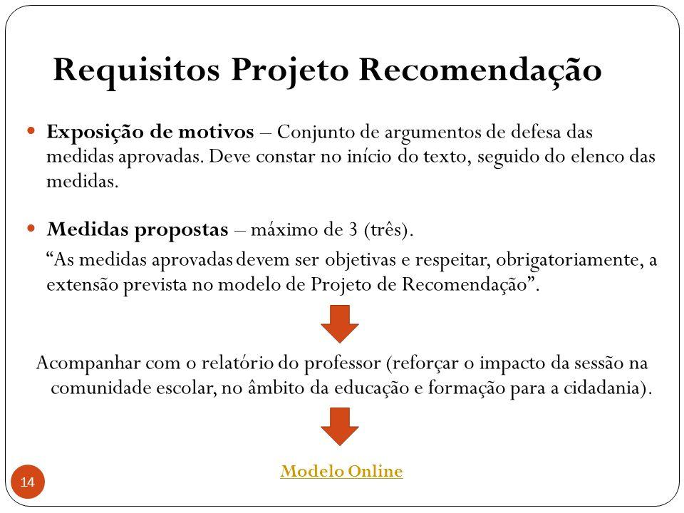 Requisitos Projeto Recomendação