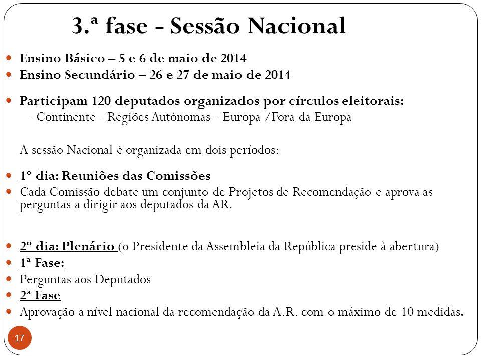 3.ª fase - Sessão Nacional