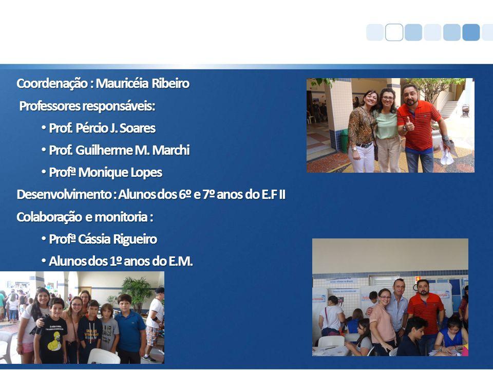 Coordenação : Mauricéia Ribeiro Professores responsáveis: