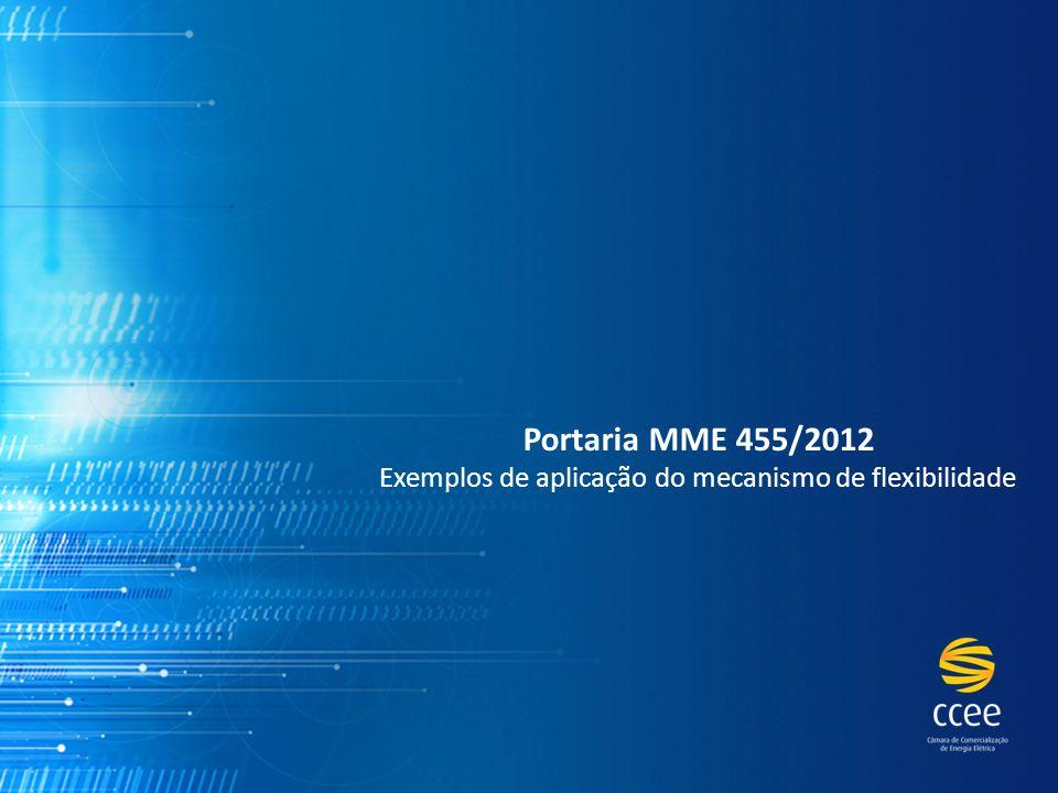 Portaria MME 455/2012 Exemplos de aplicação do mecanismo de flexibilidade