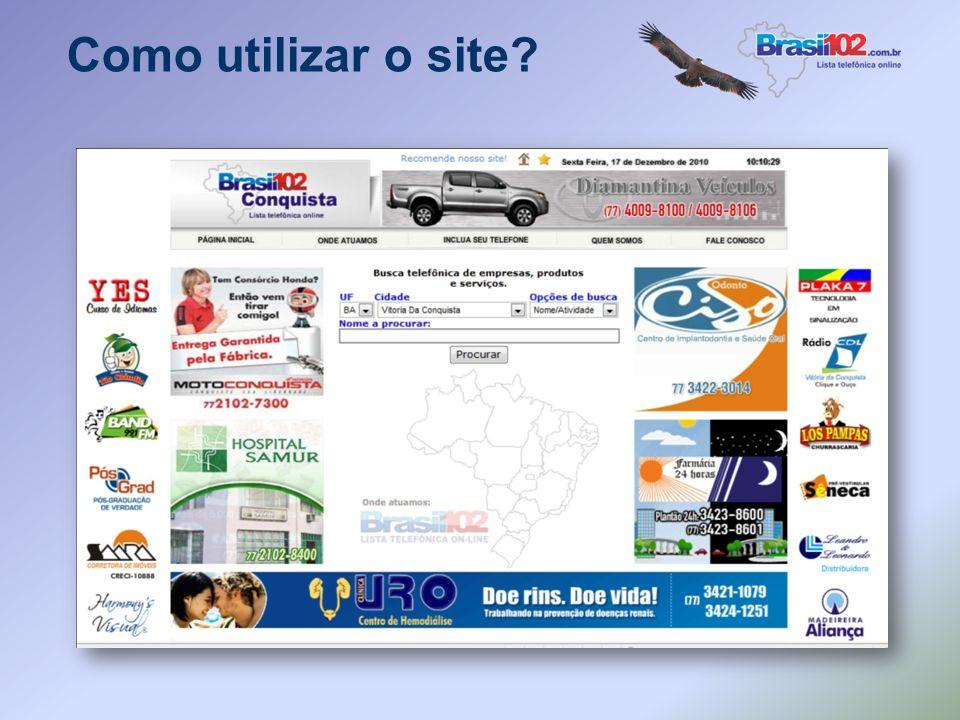 Como utilizar o site