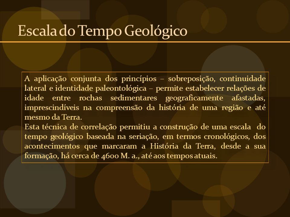 Escala do Tempo Geológico
