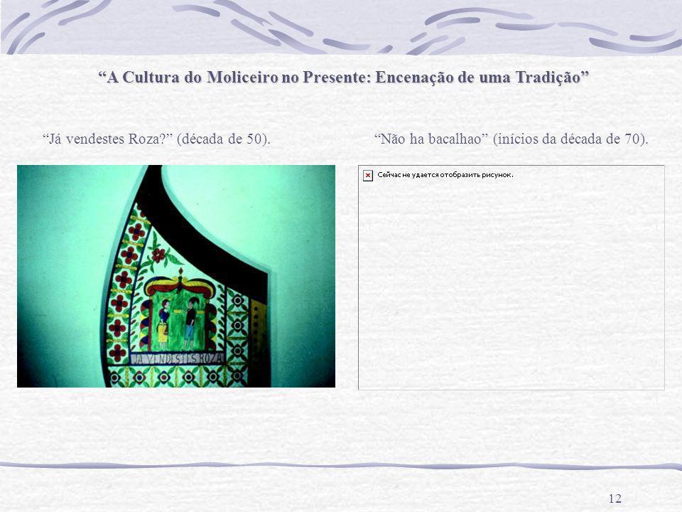 A Cultura do Moliceiro no Presente: Encenação de uma Tradição