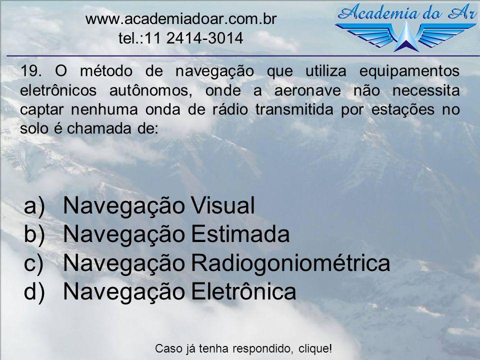 Navegação Radiogoniométrica Navegação Eletrônica