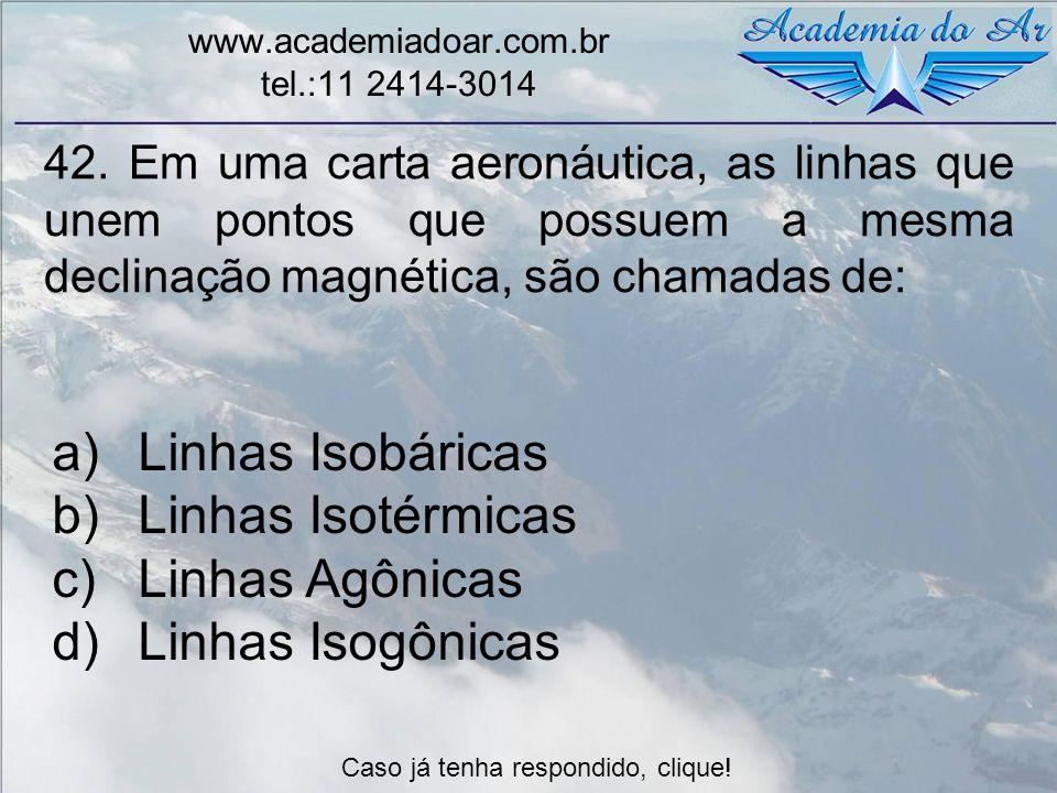Linhas Isobáricas Linhas Isotérmicas Linhas Agônicas Linhas Isogônicas