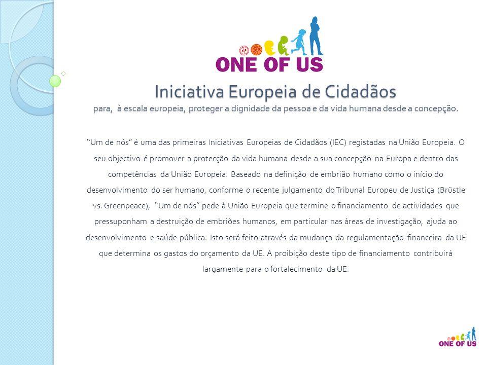 Iniciativa Europeia de Cidadãos para, à escala europeia, proteger a dignidade da pessoa e da vida humana desde a concepção.