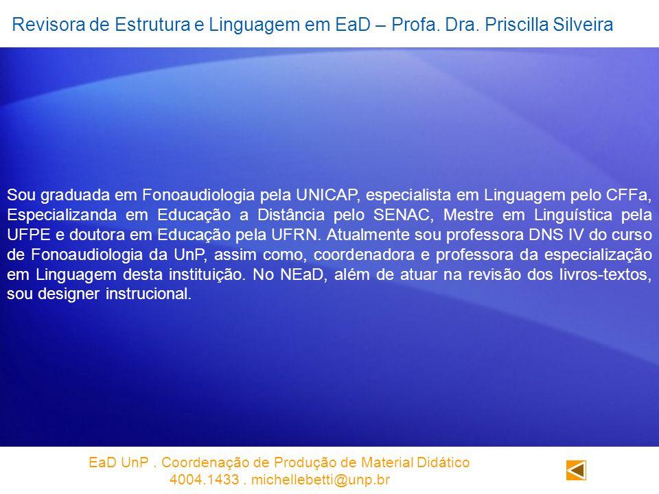 EaD UnP . Coordenação de Produção de Material Didático
