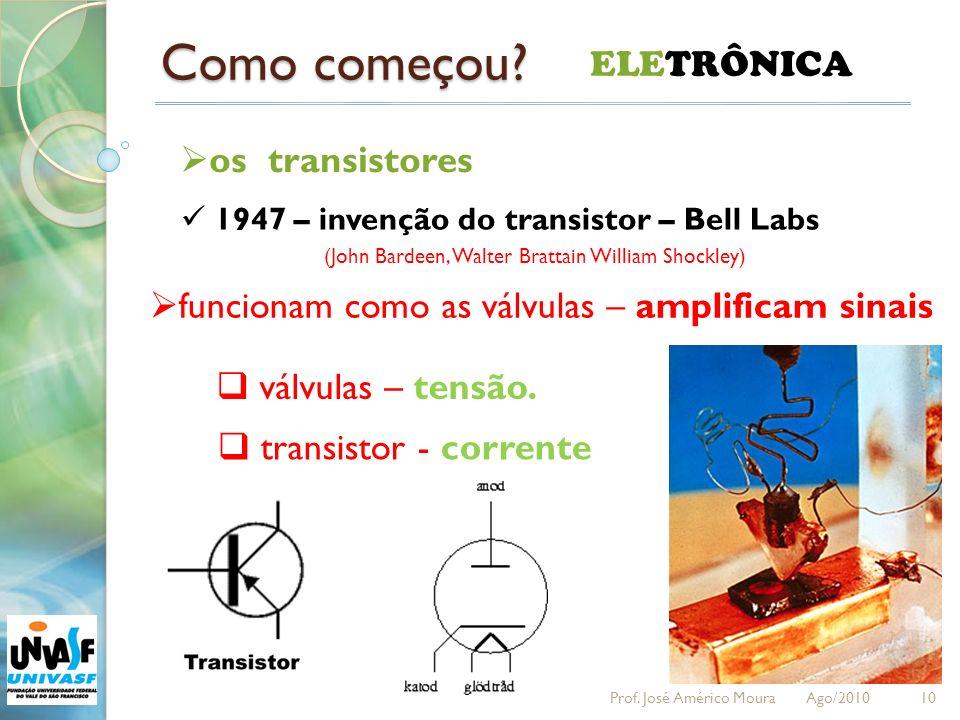 Como começou ELETRÔNICA os transistores