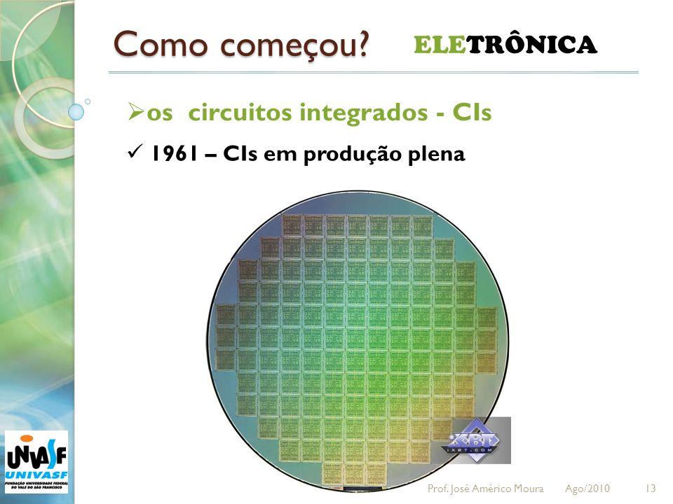 Como começou ELETRÔNICA os circuitos integrados - CIs