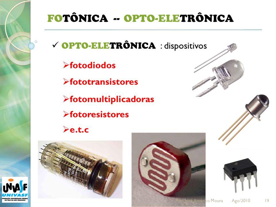 FOTÔNICA -- OPTO-ELETRÔNICA OPTO-ELETRÔNICA : dispositivos fotodiodos