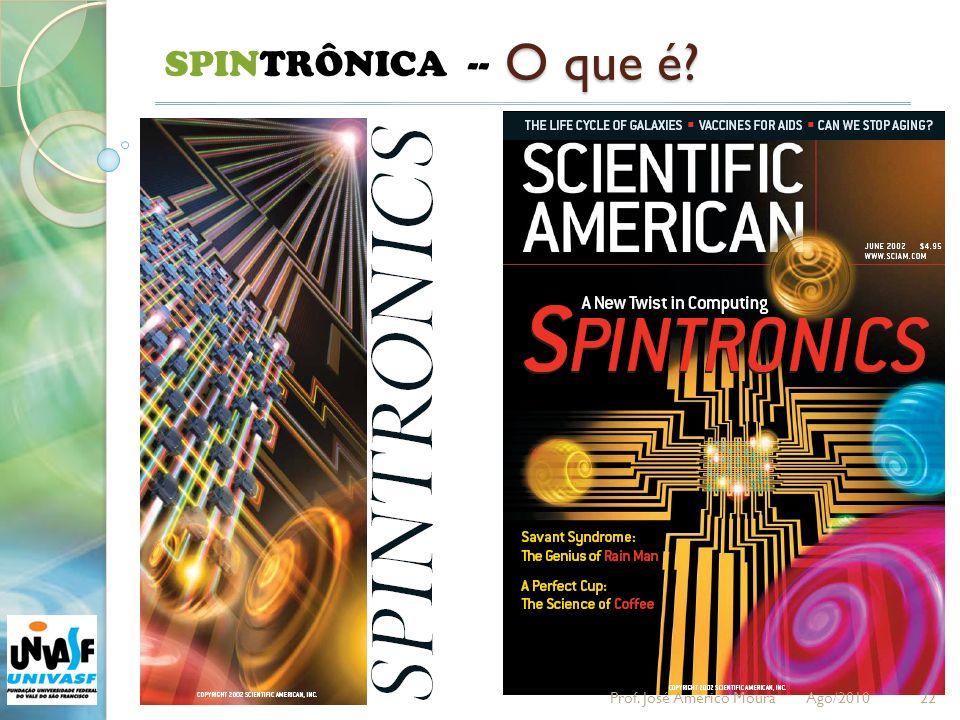 SPINTRÔNICA -- O que é Prof. José Américo Moura Ago/2010