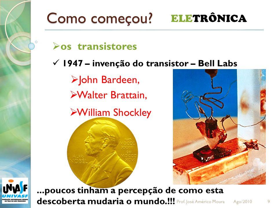 Como começou ELETRÔNICA os transistores John Bardeen,