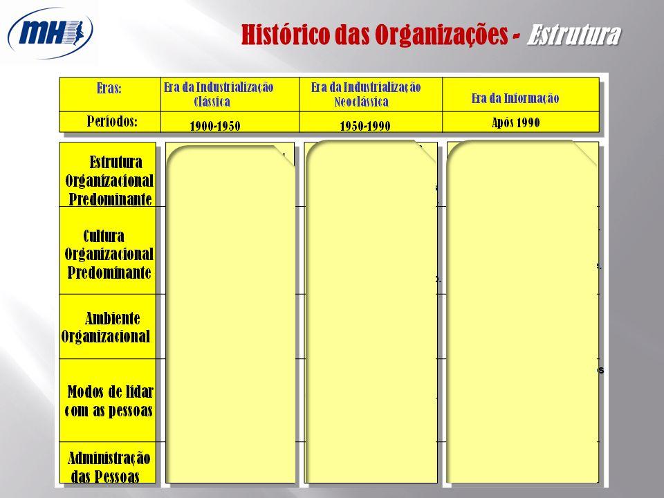 Histórico das Organizações - Estrutura