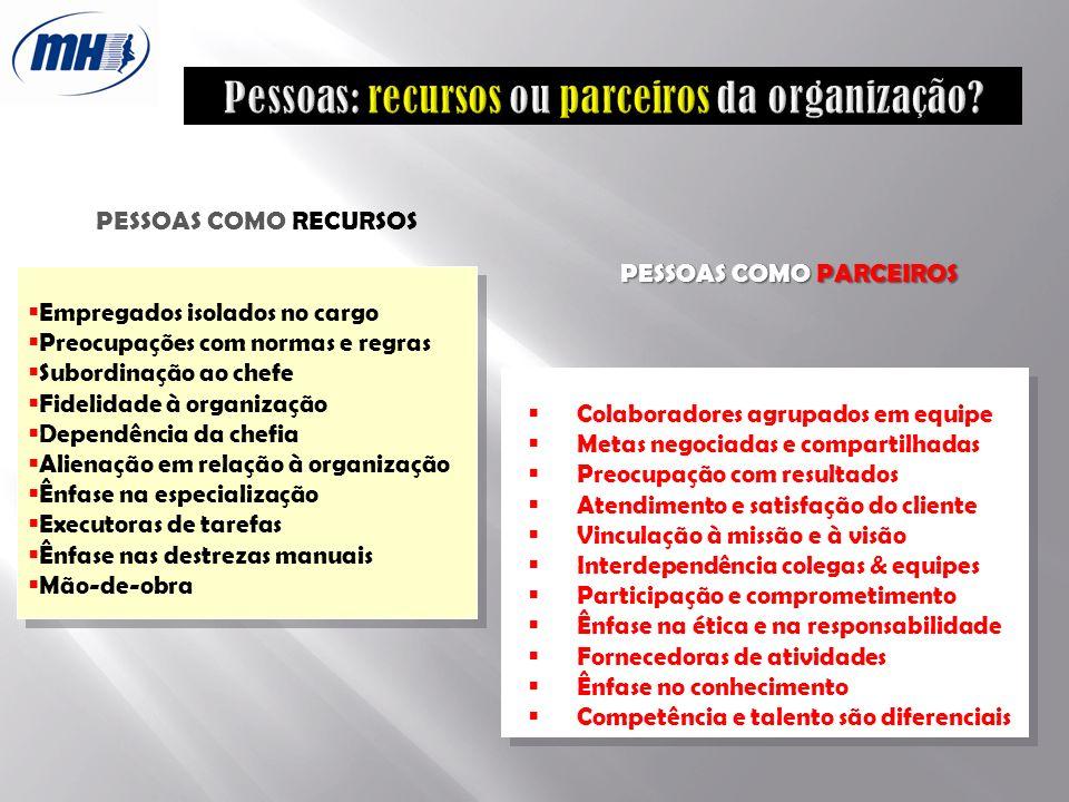 Pessoas: recursos ou parceiros da organização