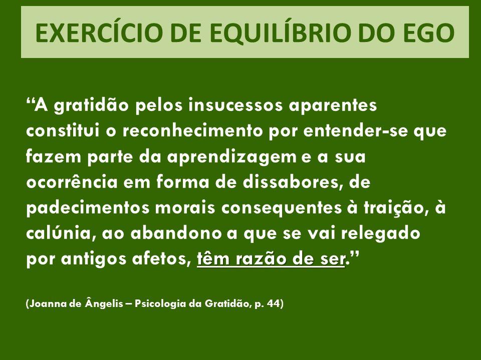 EXERCÍCIO DE EQUILÍBRIO DO EGO