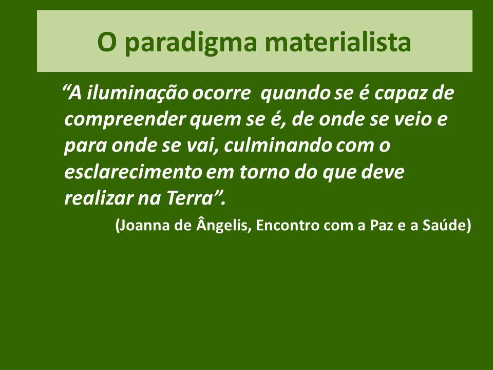 O paradigma materialista