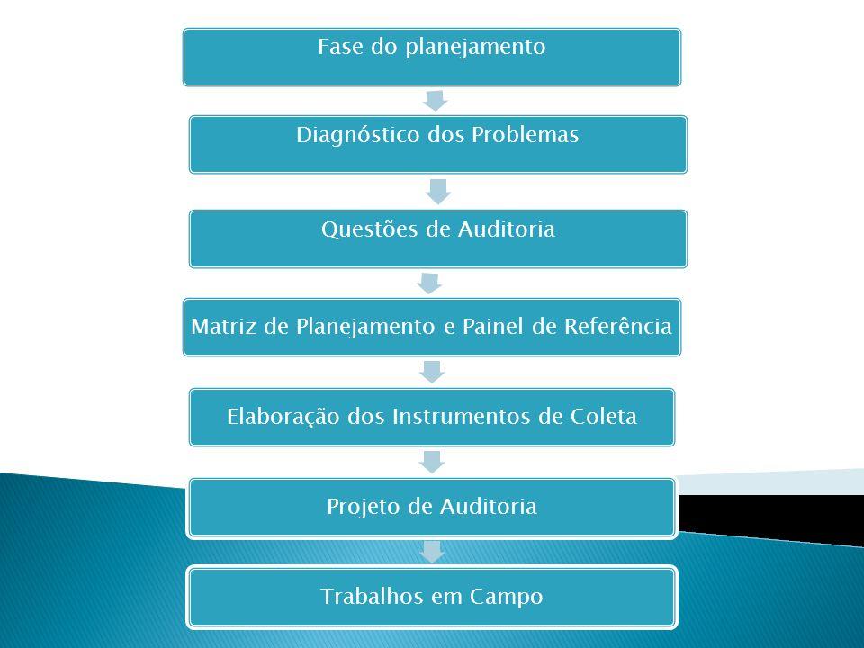Diagnóstico dos Problemas Questões de Auditoria